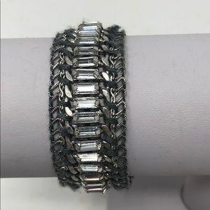Stella & Dot Silver and Rhinestone Bracelet